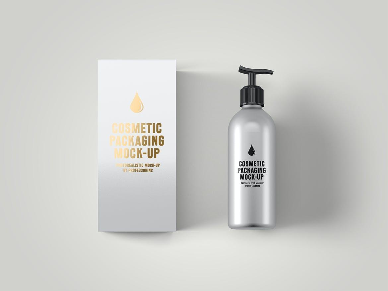 化妆品挤压瓶包装盒设计展示样机 Cosmetic Packaging Mockup插图(8)