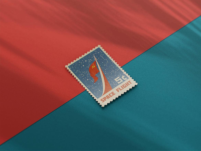 10款复古邮票文创设计展示样机模板 Postage Stamp MockUp v1插图(8)