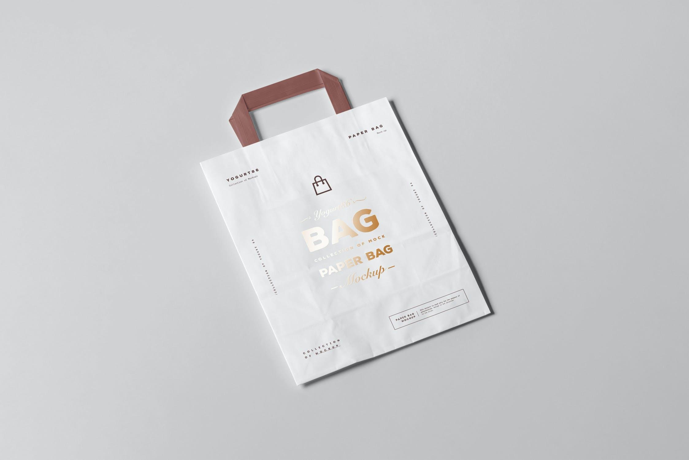 11款商城购物手提纸袋设计展示样机 Paper Bag Mockup 3插图(8)