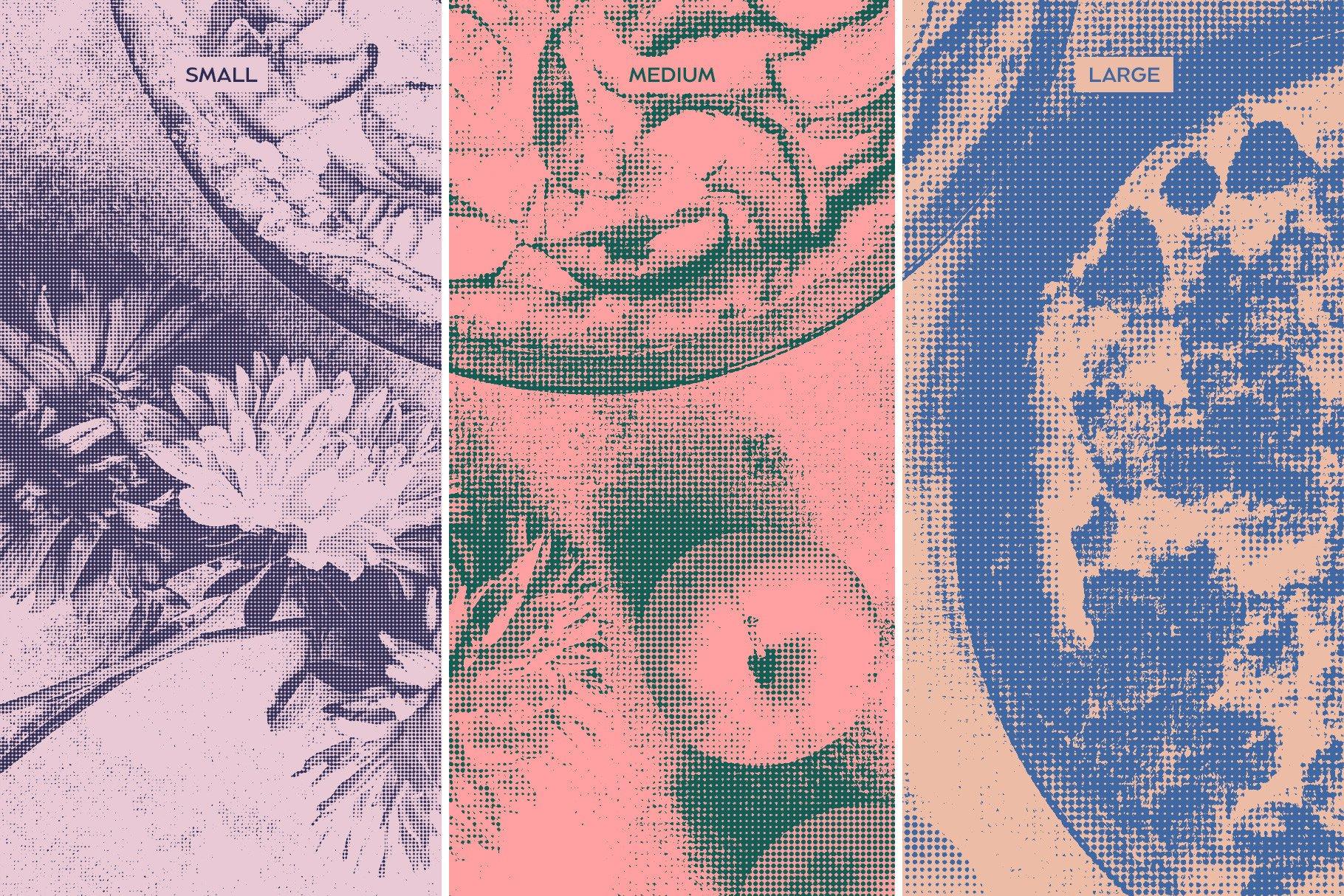 复古雕刻半调横纹波点效果Ps图片生成样式模板 Engraving & Halftone Effect Creator插图(8)