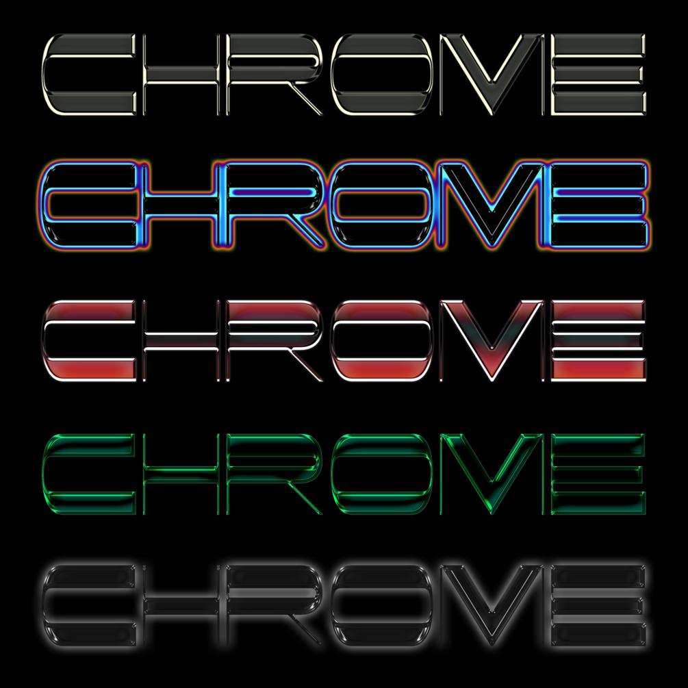 30多种独特金属发光效果立体字体PS样式 Chrome效果 Chrome Pack 1插图