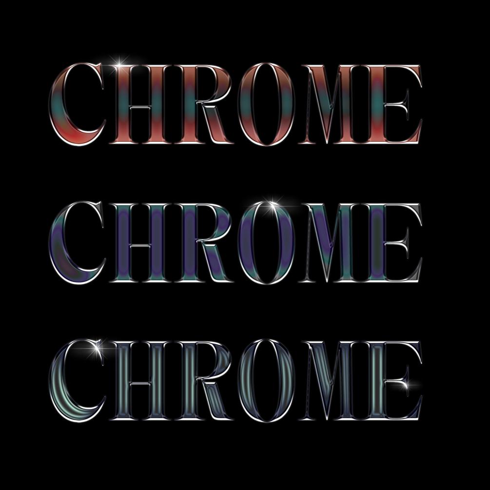 30多种独特金属发光效果立体字体PS样式 Chrome效果 Chrome Pack 1插图(1)