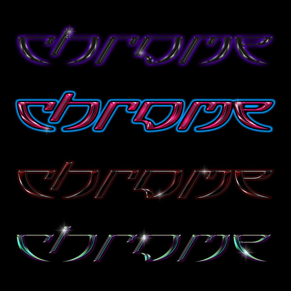 30多种独特金属发光效果立体字体PS样式 Chrome效果 Chrome Pack 1插图(2)