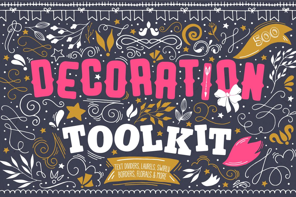 500多个花圈徽标装饰图案矢量素材 Decoration Toolkit插图