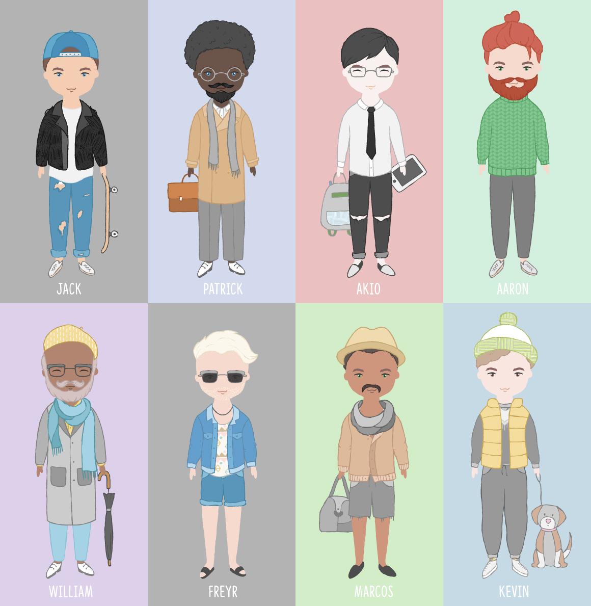 卡通人像头发服装设计矢量素材 Portrait & Character Creator插图(2)