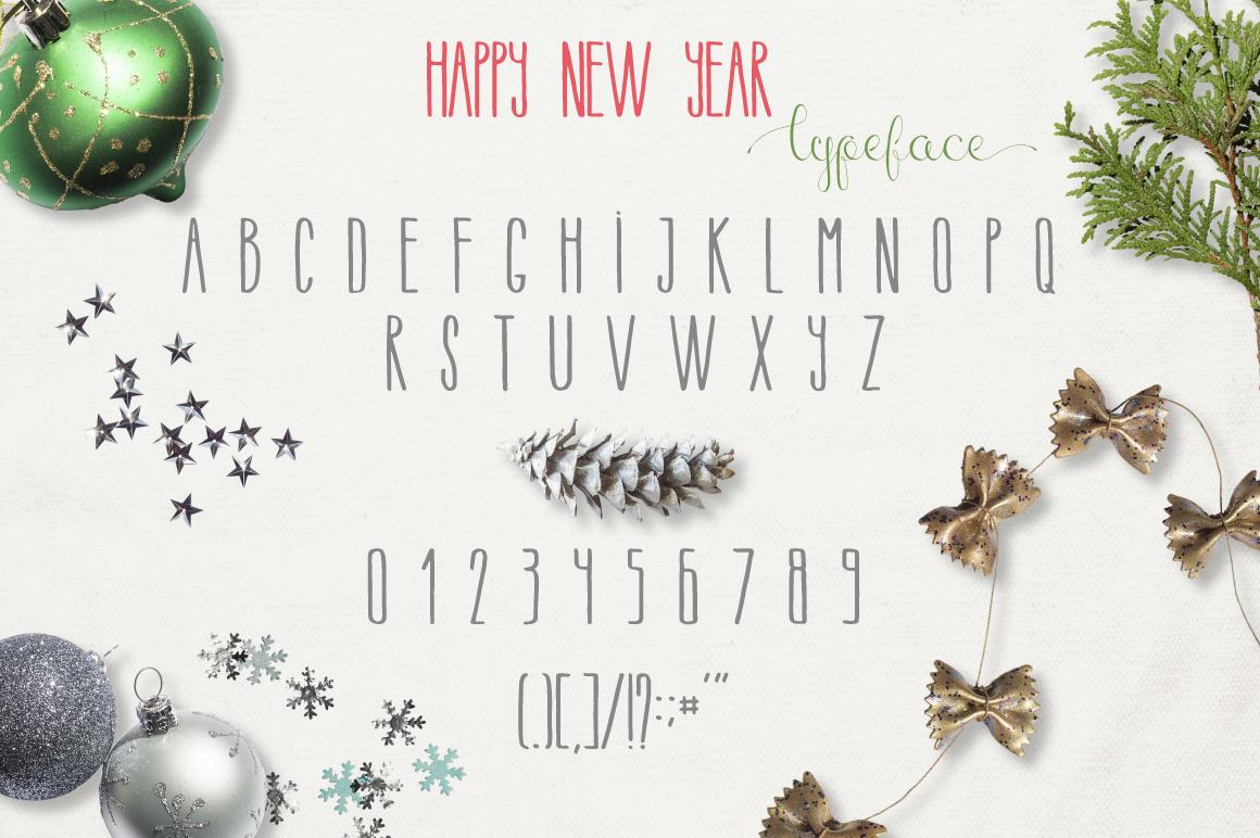 圣诞节主题手写英文字体&水彩纹理素材 Merry Christmas [2 fonts]+Free Goods插图(2)