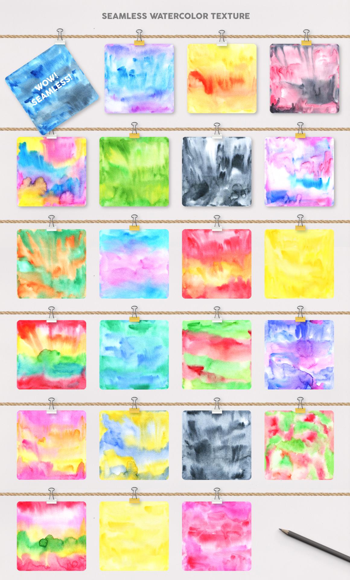 手绘水彩无缝隙图案纹理矢量素材 Watercolor Pattern Creator插图(2)