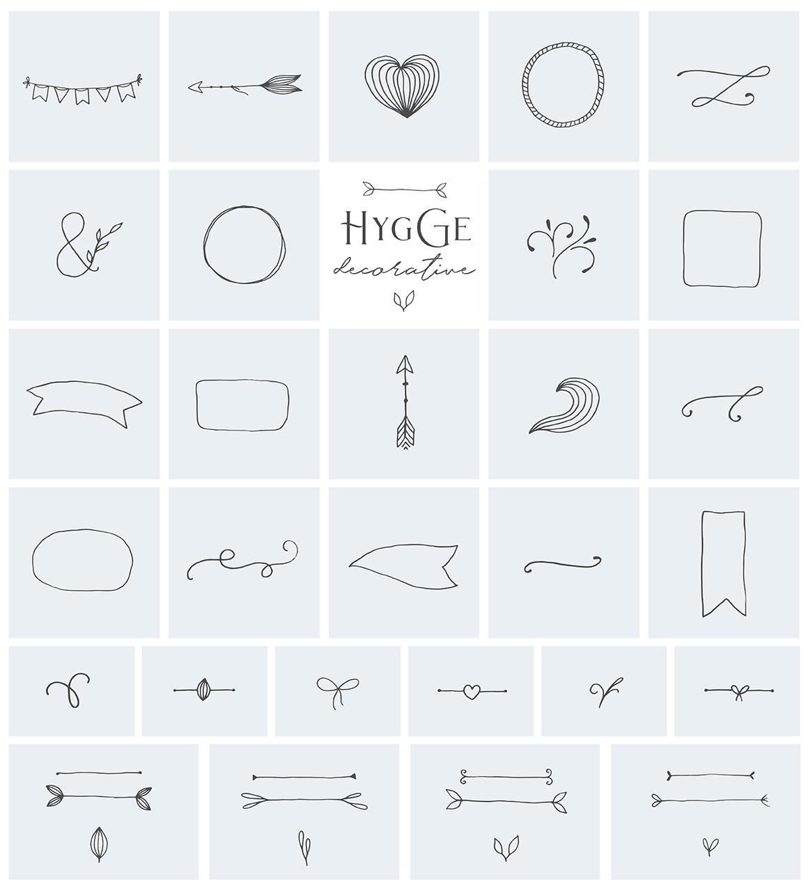 柔美手绘花卉植物元素徽标标志设计矢量素材 Hygge Collection插图(3)