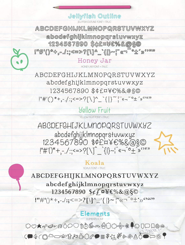 25款手写英文字体下载 Fontytotty 25 Font Collection插图(4)