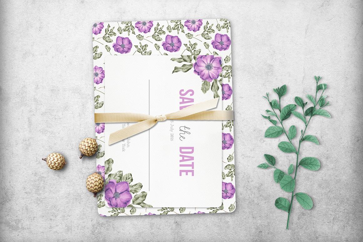 33款高清玫瑰牡丹海葵花卉花圈水彩剪贴画图片素材 Flower Marker Collection插图(4)