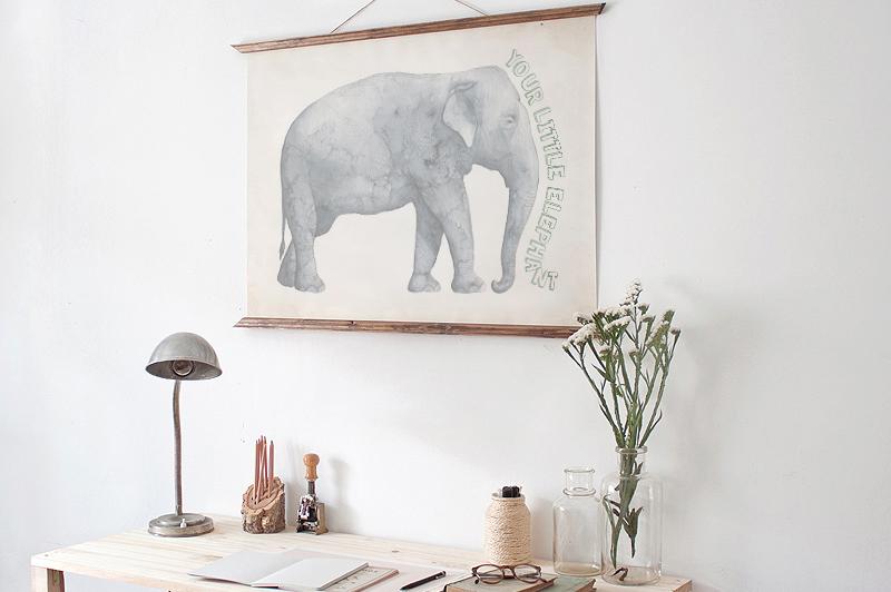 高清手绘野生动物大象犀牛水彩元素PNG图片素材 Safari Watercolor Collection插图(4)