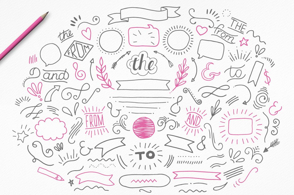 10款手写英文字体&矢量图案下载 Handwritten Font Collection插图(6)