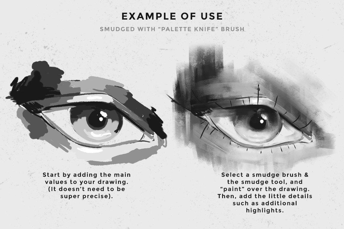 18款油漆水彩水墨纹理效果Procreate笔刷 Procreate Smudge Brushes插图(2)