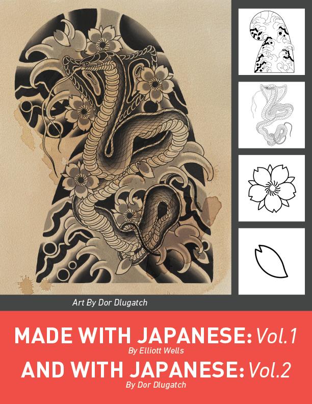 100款日系风格动物花卉符号Procreate笔刷合集 Japanese Procreate Brush Set插图(1)