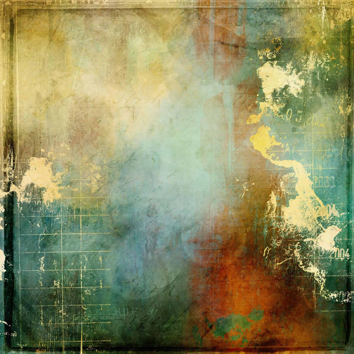 12张高清水彩金色质感艺术海报设计纸张背景纹理图片素材 Watercolor Texture Papers插图(10)