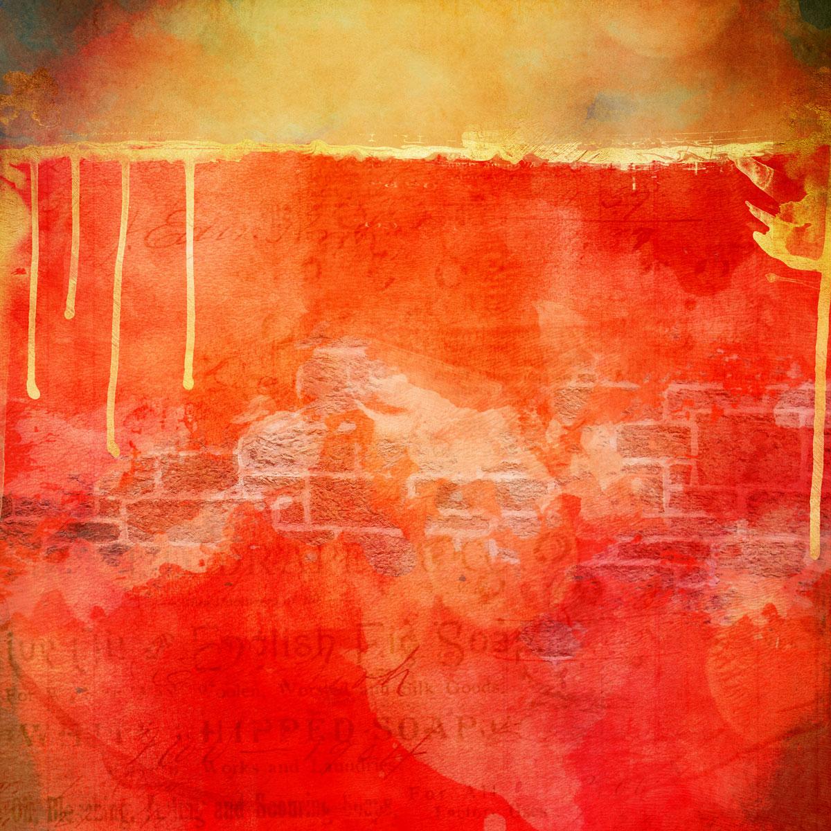 12张高清水彩金色质感艺术海报设计纸张背景纹理图片素材 Watercolor Texture Papers插图(3)