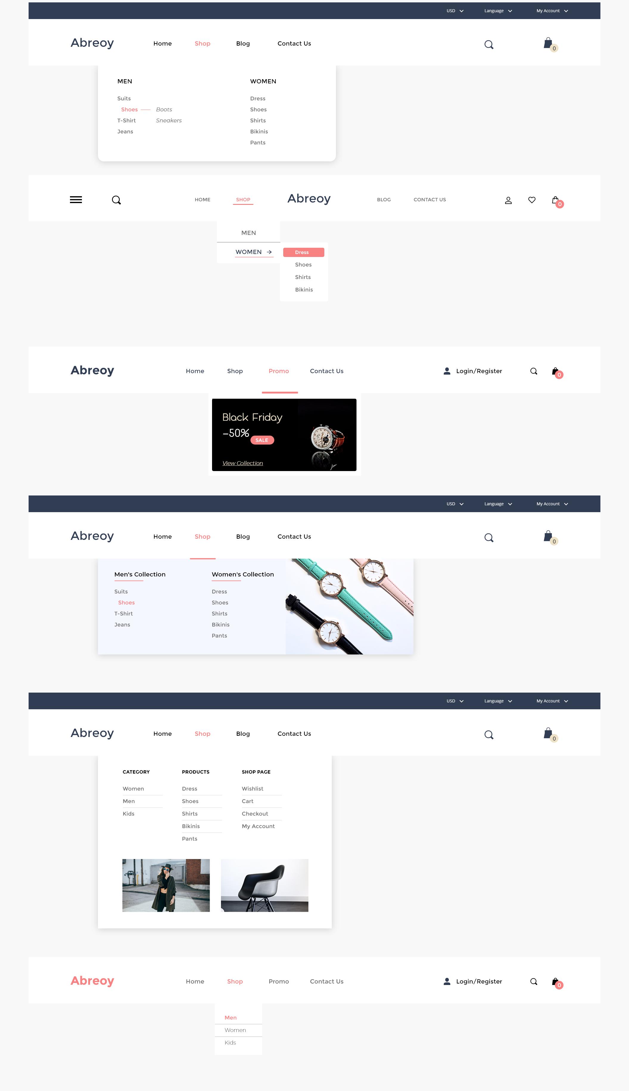 在线购物电子商城APP应用设计UI套件素材 Abreoy E-Commerce UI Kit插图(3)
