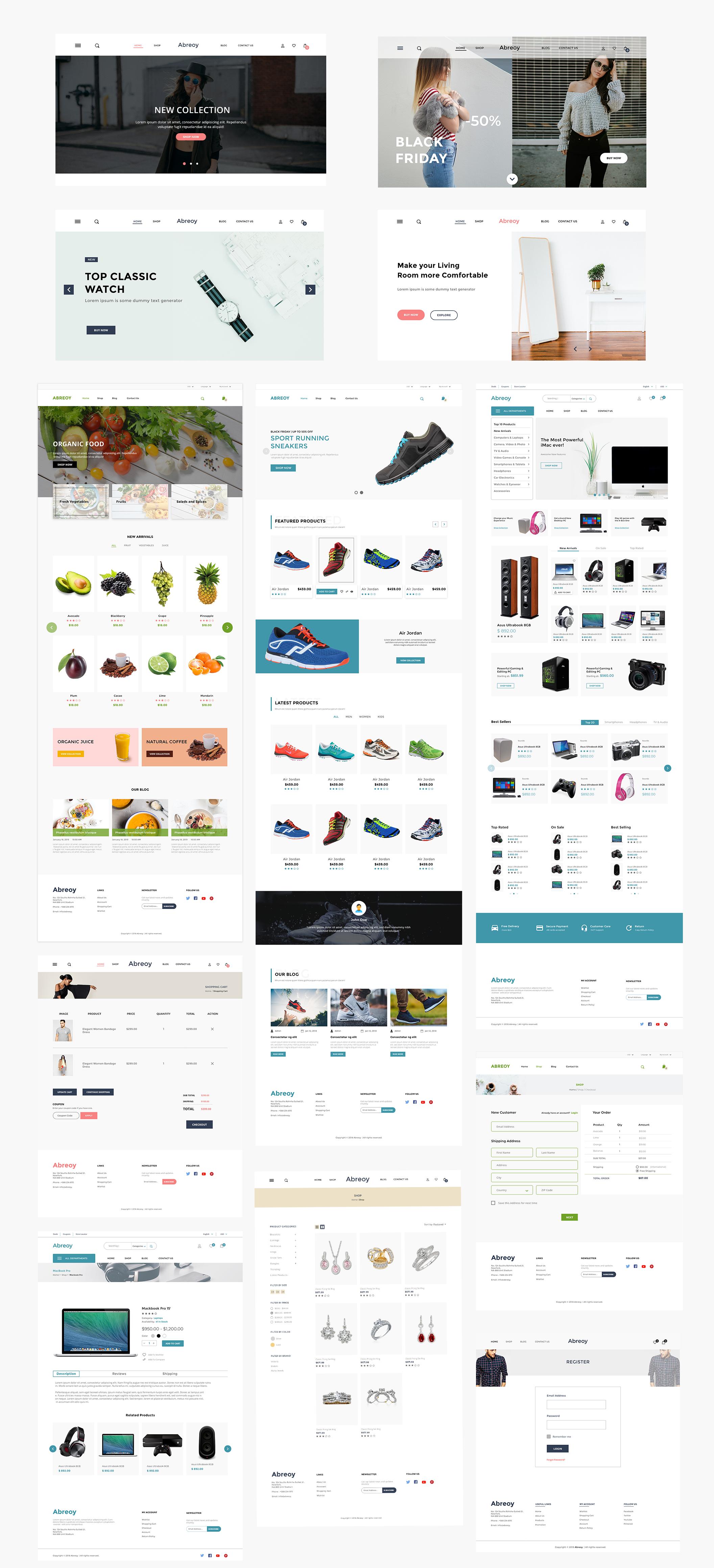 在线购物电子商城APP应用设计UI套件素材 Abreoy E-Commerce UI Kit插图(5)