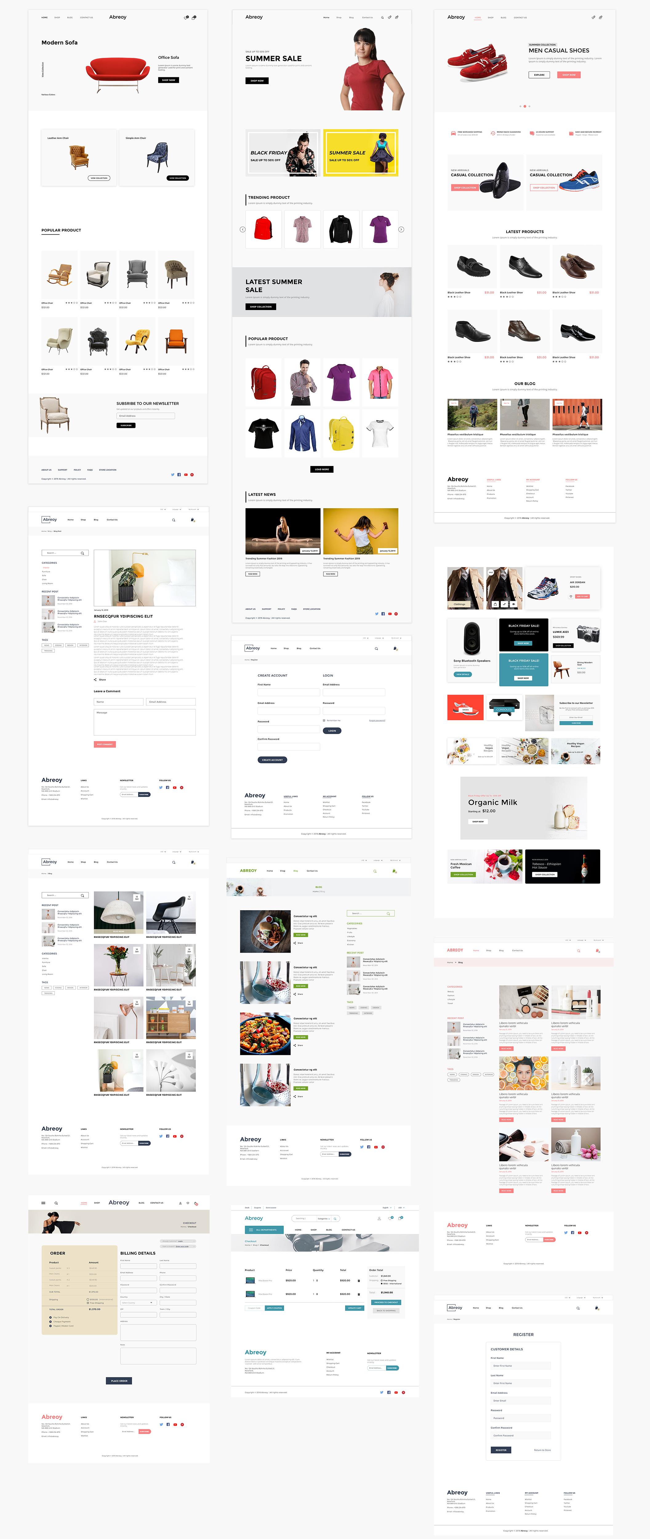 在线购物电子商城APP应用设计UI套件素材 Abreoy E-Commerce UI Kit插图(6)