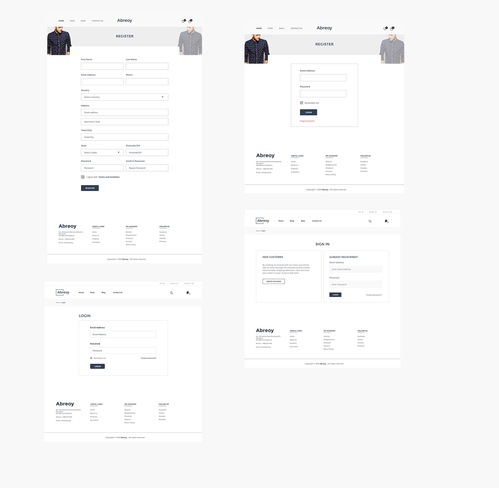 在线购物电子商城APP应用设计UI套件素材 Abreoy E-Commerce UI Kit插图(7)