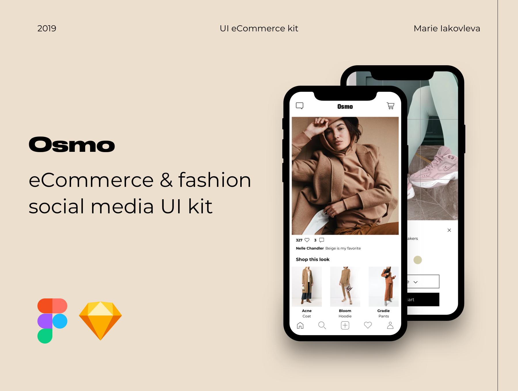 精致电子商城APP应用设计UI套件素材 Osmo E-Commerce UI Kit插图
