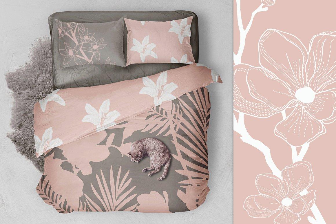 35款优雅花卉植物无缝隙矢量图案素材 35+ Patterns & 8 Instagram Templates插图(2)
