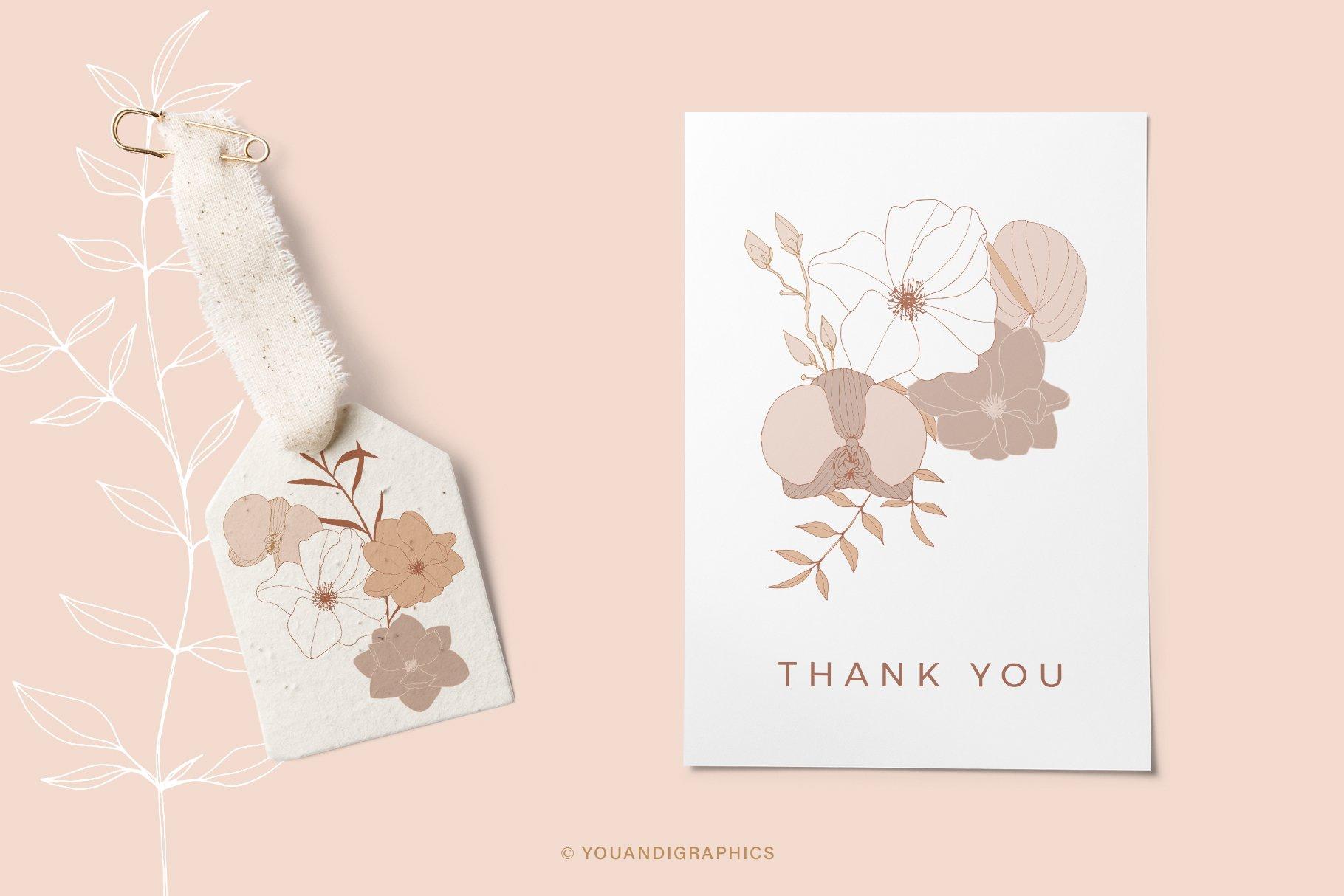 手绘盛开花卉花朵矢量无缝隙图案素材 Blooming Garden Floral Patterns插图(9)