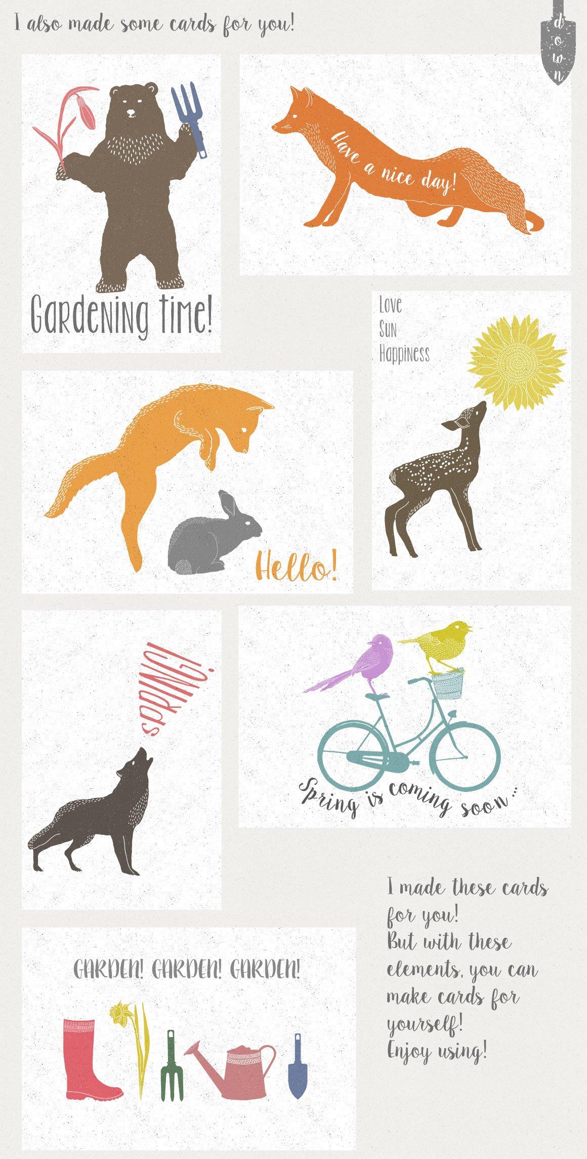 147款春天主题动物植物纹理矢量素材 Spring Collection插图(3)