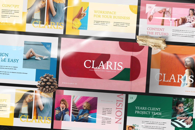 [淘宝购买]现代极简女装品牌摄影作品集设计Keynote演示文稿模板 CLARIS Pastel Keynote Template插图(10)