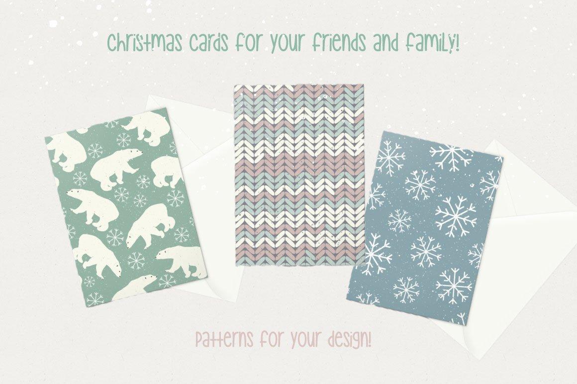 30款圣诞节主题无缝隙矢量图案素材 Winter Patterns插图(5)