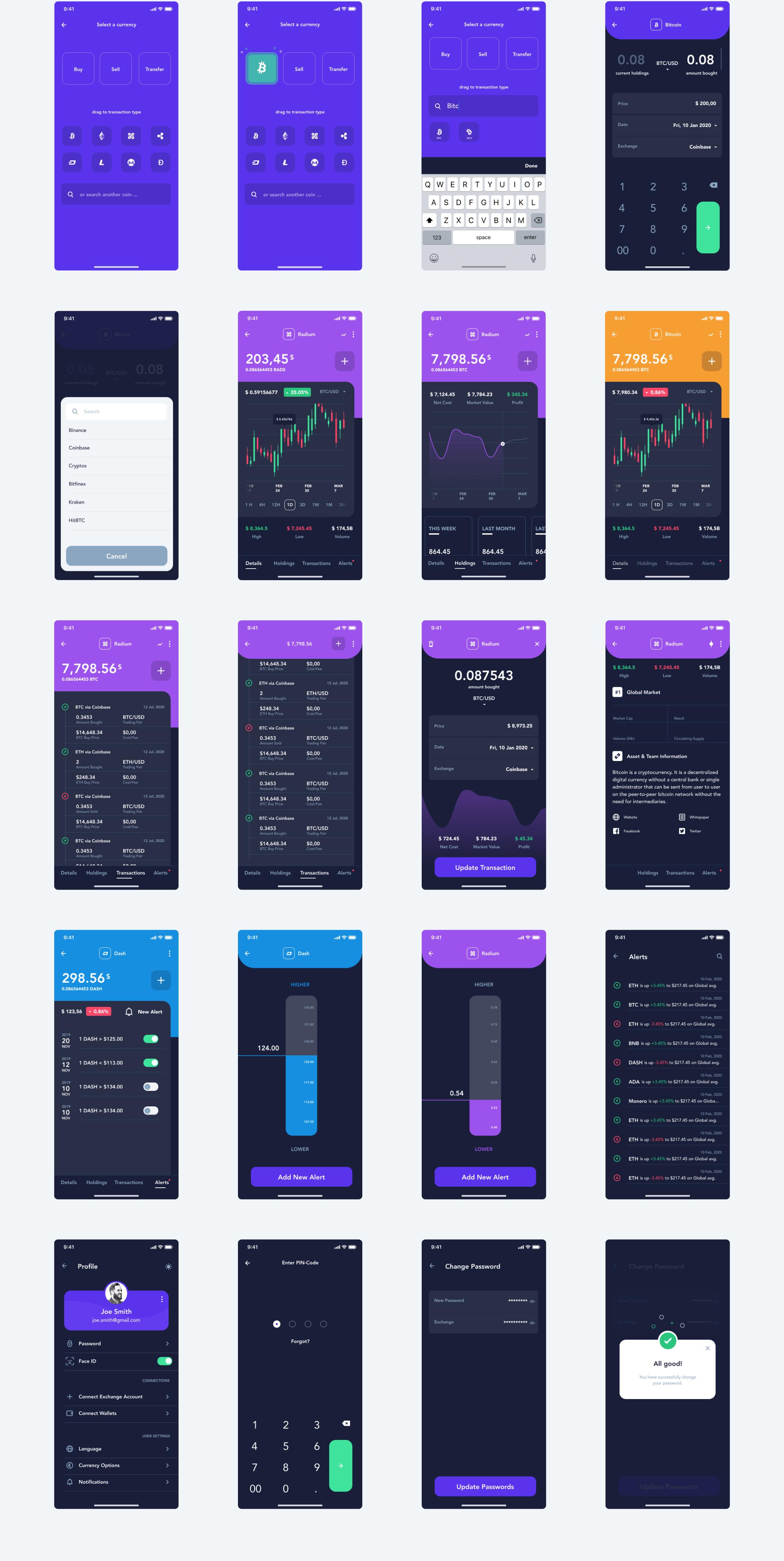 现代金融加密货币电子钱包APP应用设计UI套件 Hashed Wallet UI Kit插图(5)