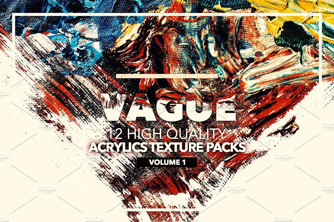 12款高清抽象炫彩丙烯酸涂料海报设计背景纹理图片素材 Vague I: 12 Acrylics Textures插图