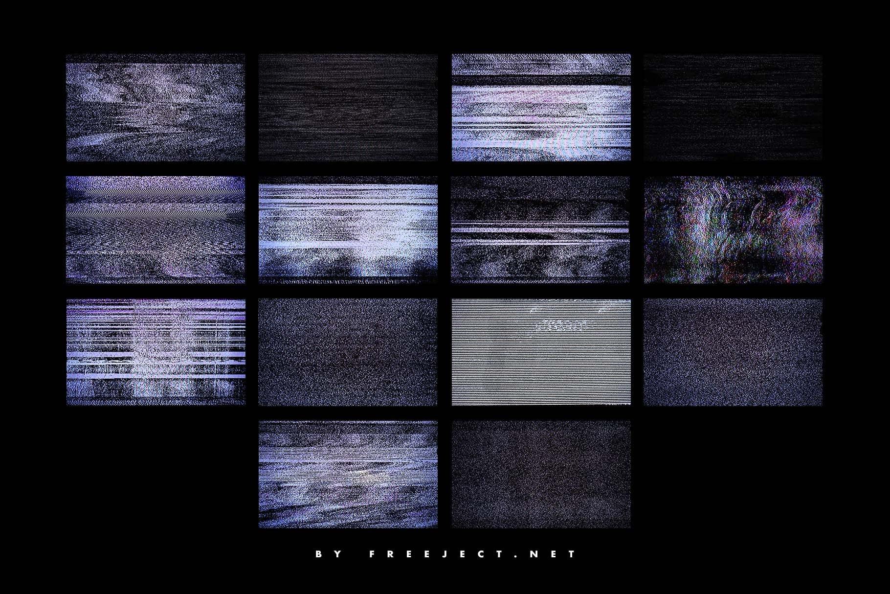[淘宝购买]62款高清抽象粗糙故障风平面广告海报设计背景纹理图片素材 62 Abstract Scanline Glitch Texture插图(9)