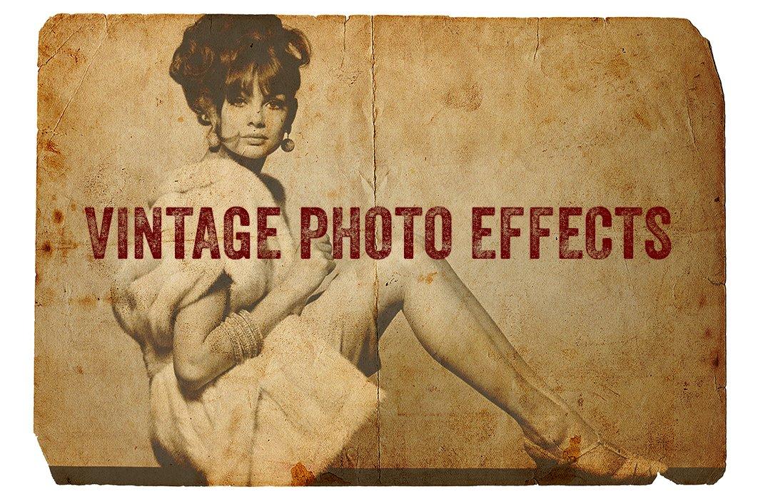 高清复古老式泛黄照片效果旧纸纹理PS叠加层素材 Vintage Photo Effects插图