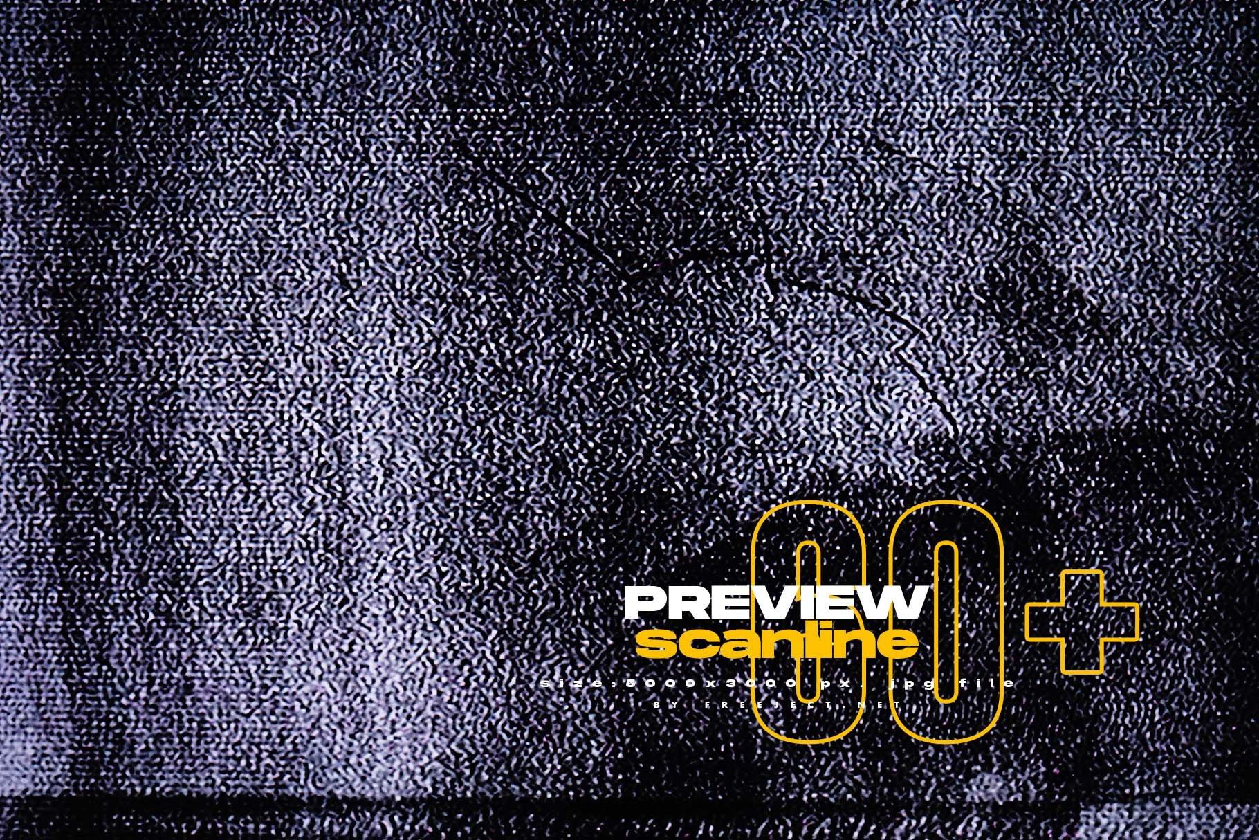 [淘宝购买]62款高清抽象粗糙故障风平面广告海报设计背景纹理图片素材 62 Abstract Scanline Glitch Texture插图(4)
