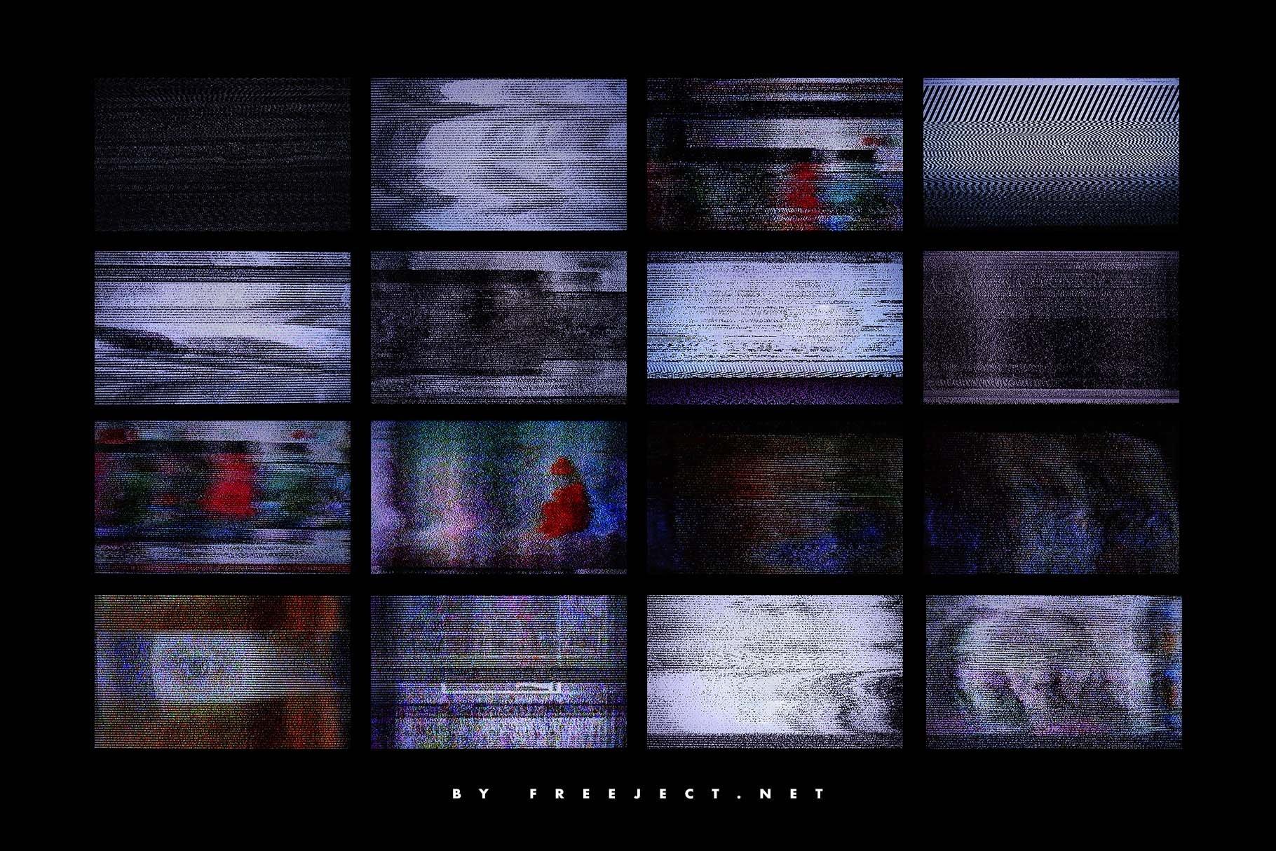 [淘宝购买]62款高清抽象粗糙故障风平面广告海报设计背景纹理图片素材 62 Abstract Scanline Glitch Texture插图(7)