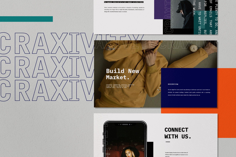 时尚潮流商业策划书幻灯片设计模板 CRAXITVIY – Powerpoint插图(1)