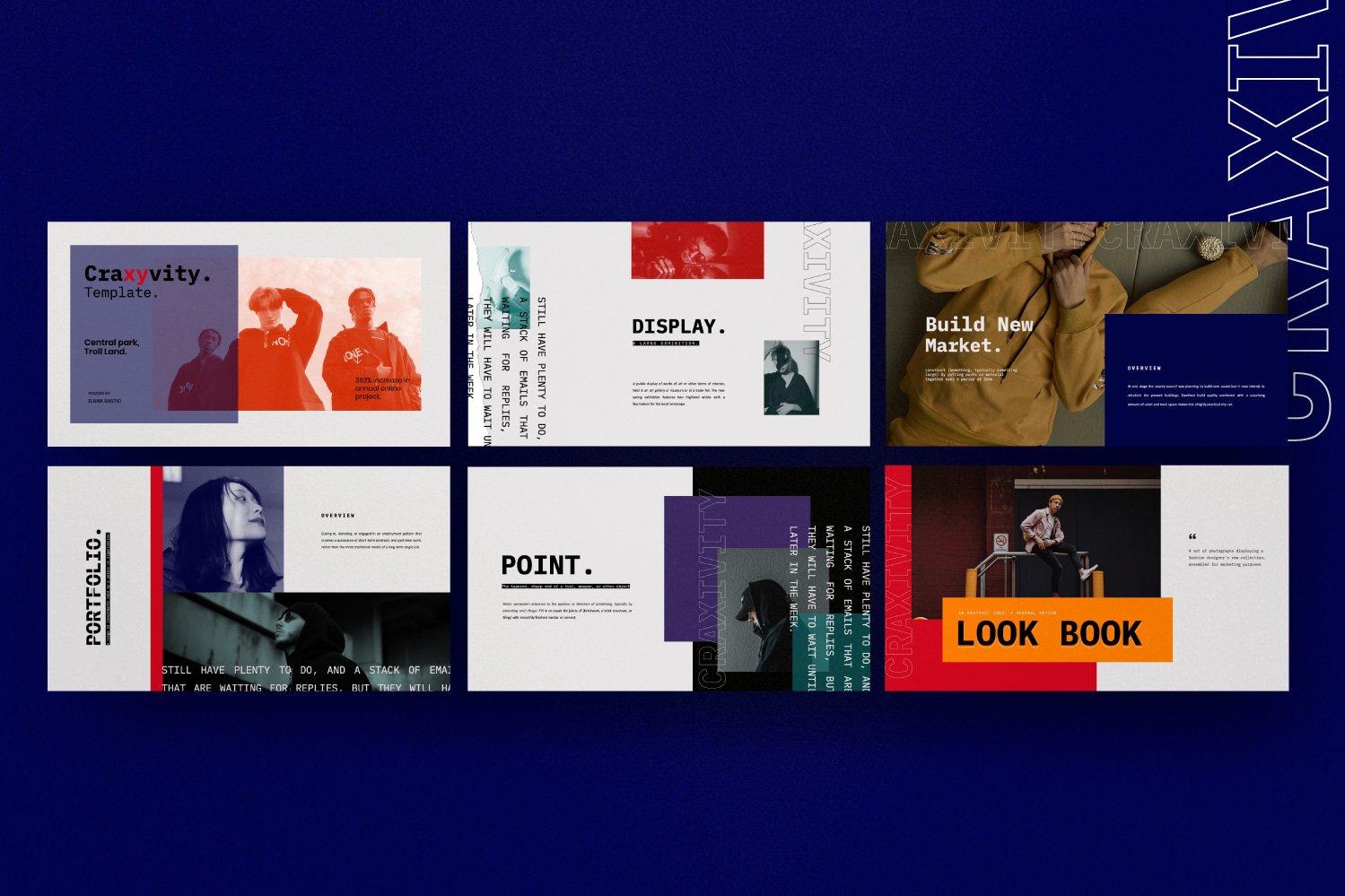 时尚潮流商业策划书幻灯片设计模板 CRAXITVIY – Powerpoint插图(3)