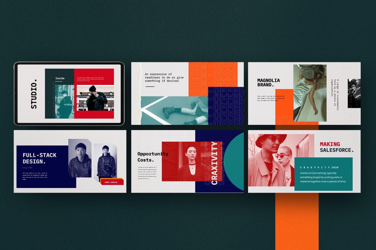 时尚潮流商业策划书幻灯片设计模板 CRAXITVIY – Powerpoint插图(4)