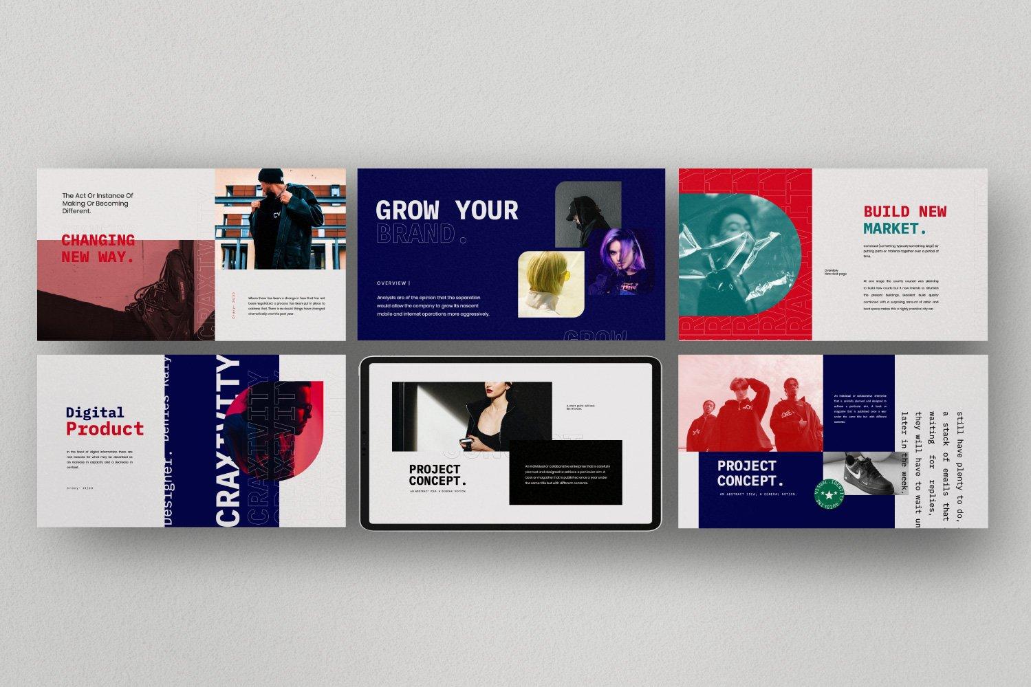 时尚潮流商业策划书幻灯片设计模板 CRAXITVIY – Powerpoint插图(7)