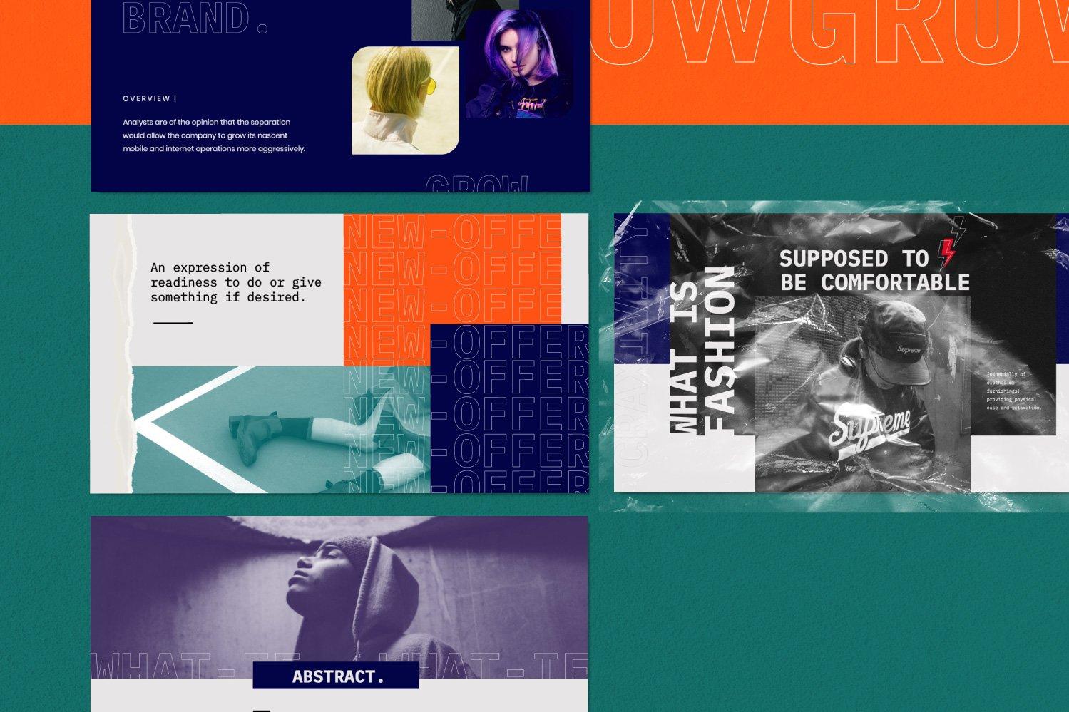 时尚潮流商业策划书幻灯片设计模板 CRAXITVIY – Powerpoint插图(9)