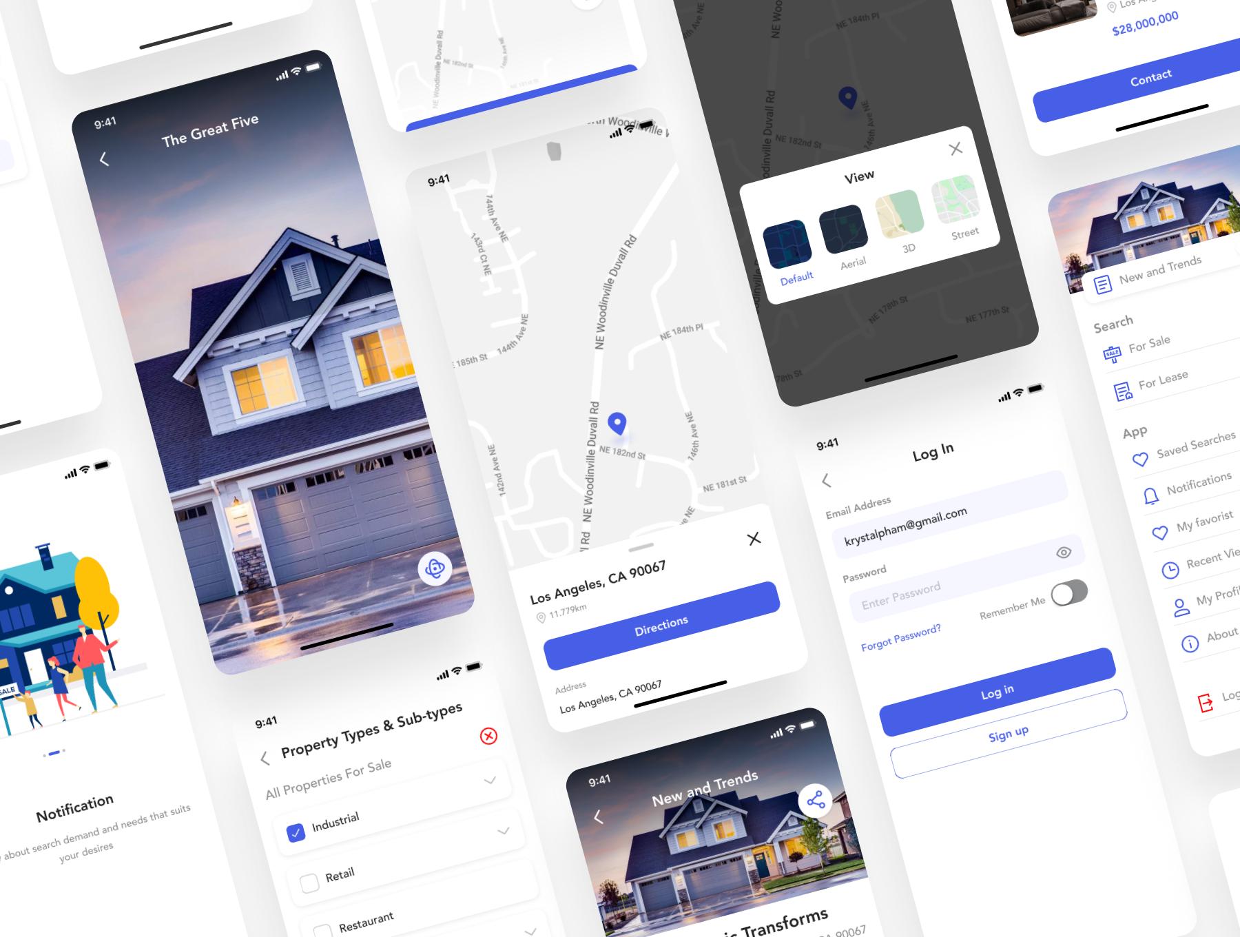 房地产房屋在线租赁销售应用APP UI套件 FiHome – Real estate UI Kit插图(5)