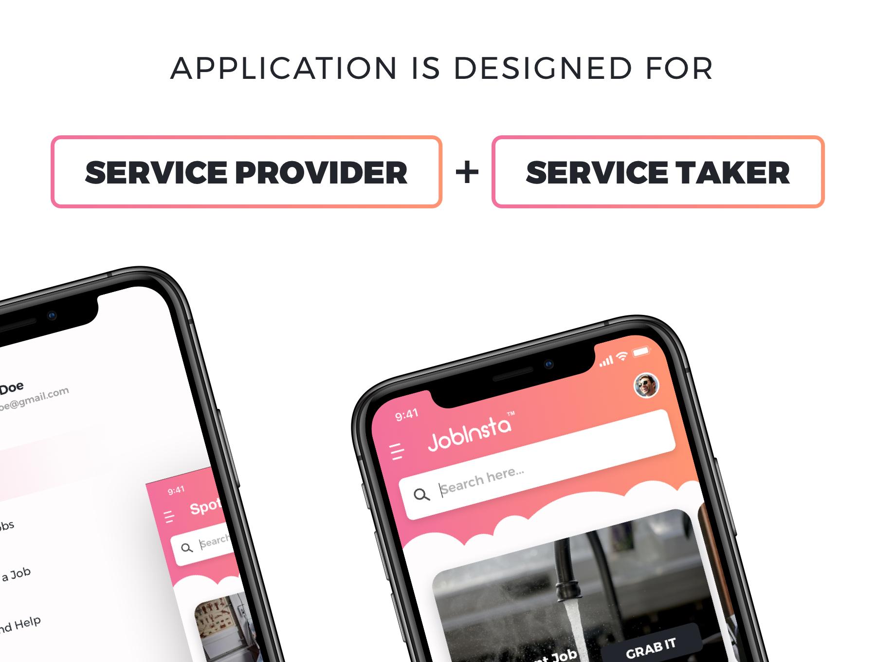 求职家政服务应用APP设计UI套件 JobInsta UI Kit插图(1)
