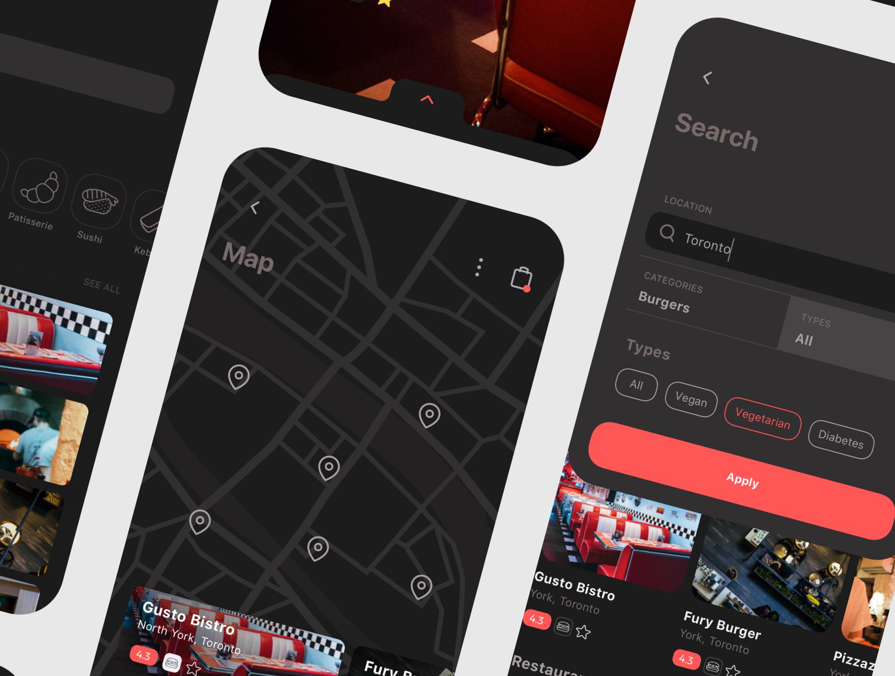 食品外卖配送服务移动应用APP界面设计UI套件 Spes Dark Food Delivery App UI Kit插图(9)
