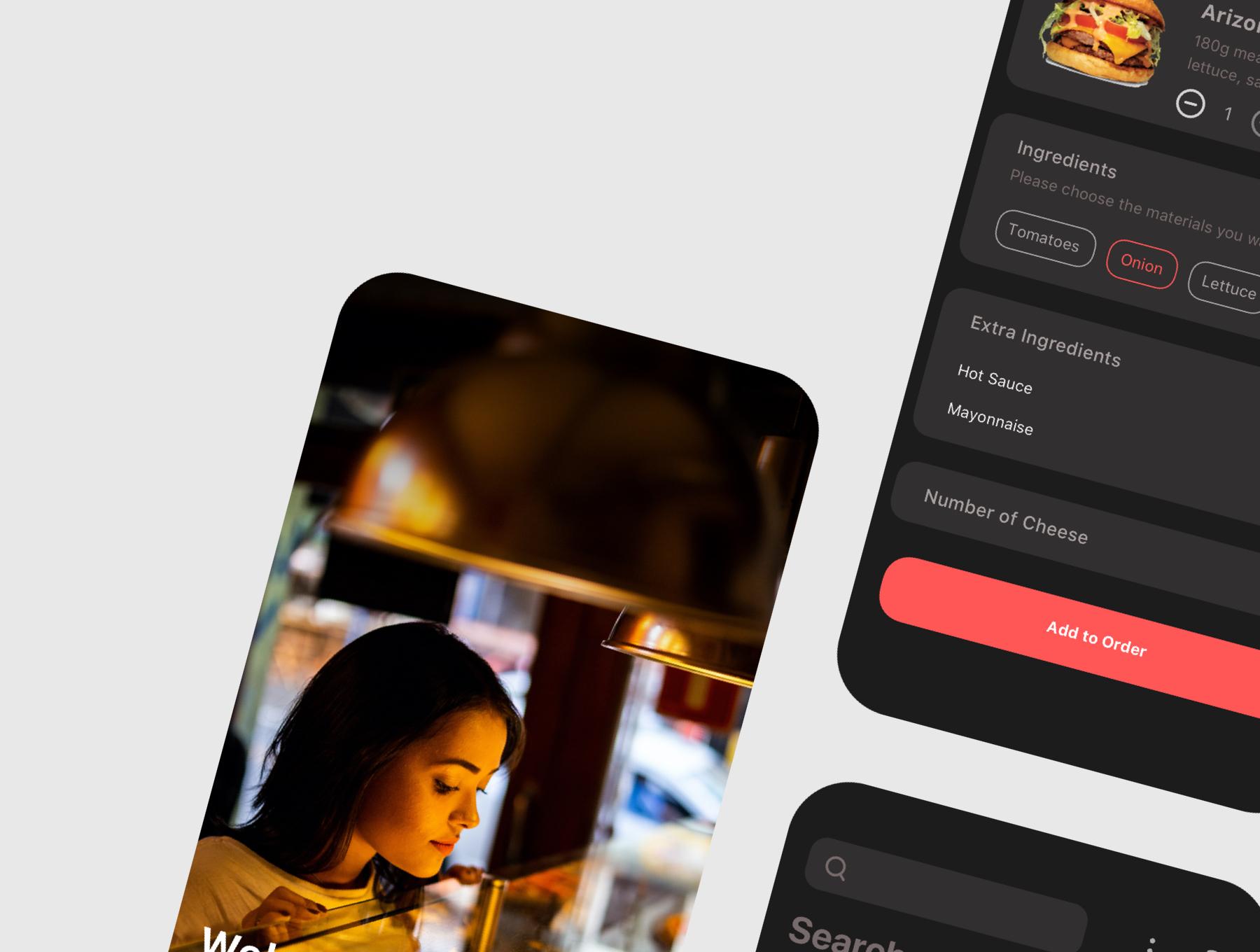 食品外卖配送服务移动应用APP界面设计UI套件 Spes Dark Food Delivery App UI Kit插图(4)