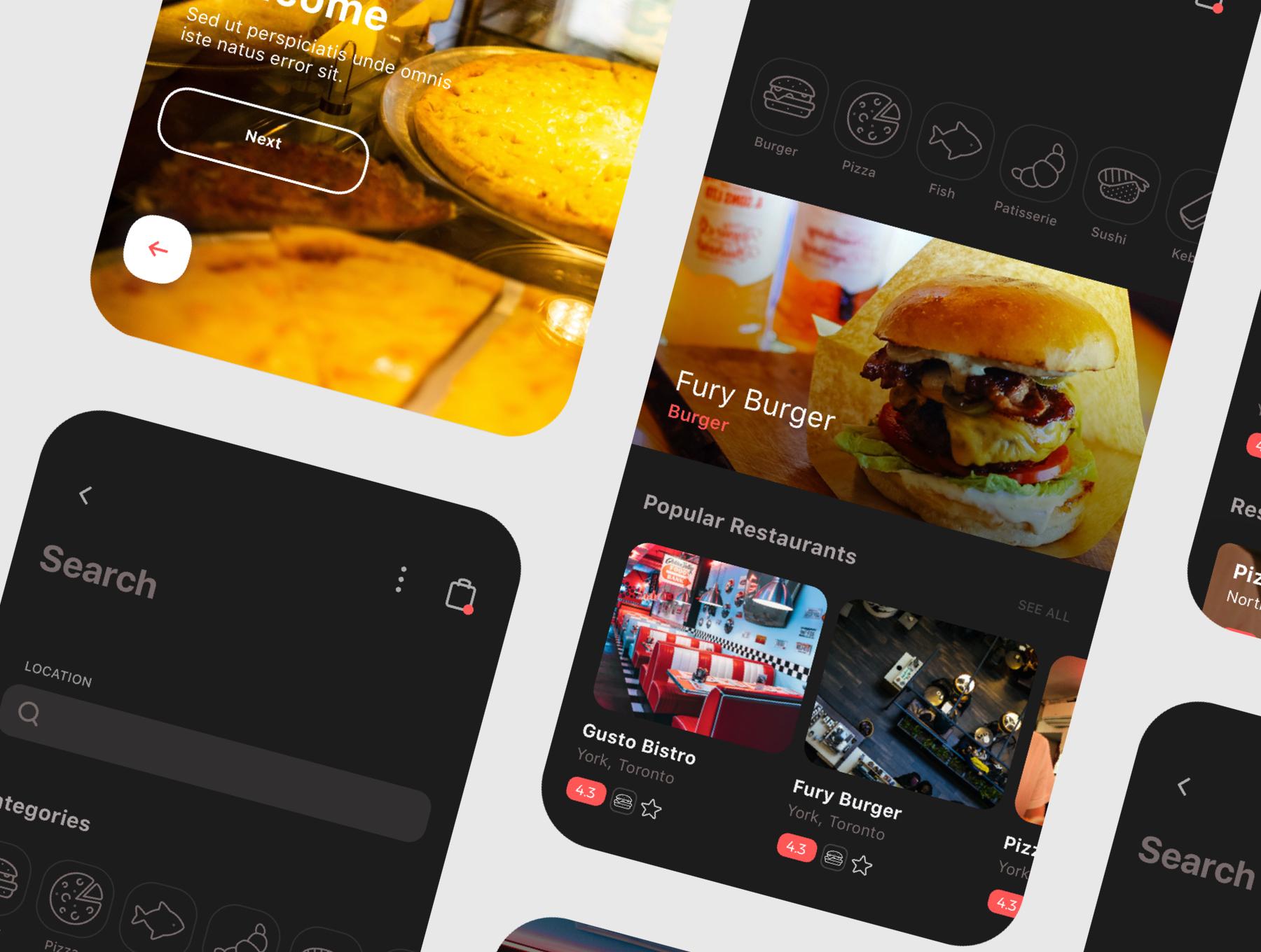 食品外卖配送服务移动应用APP界面设计UI套件 Spes Dark Food Delivery App UI Kit插图(6)