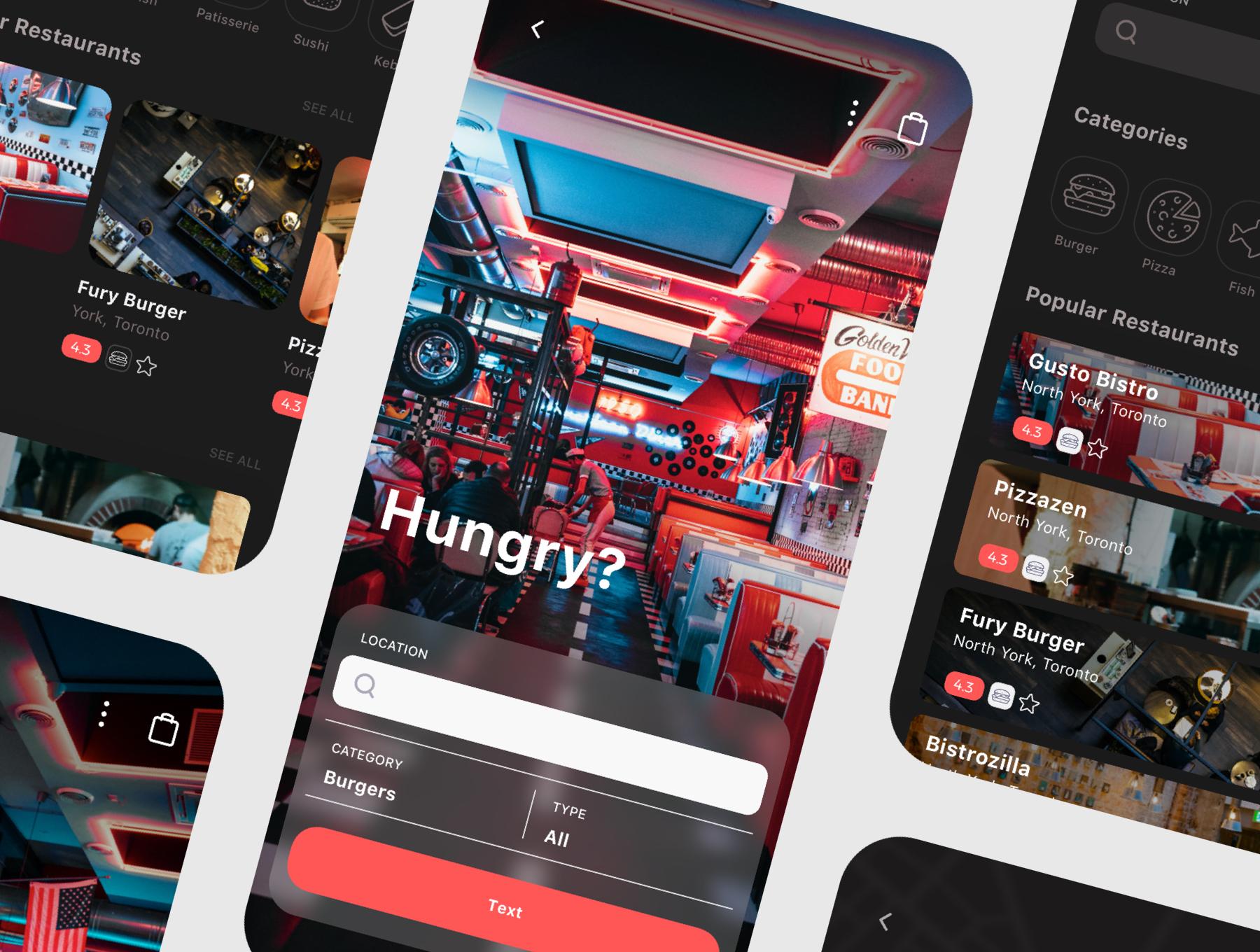 食品外卖配送服务移动应用APP界面设计UI套件 Spes Dark Food Delivery App UI Kit插图(8)