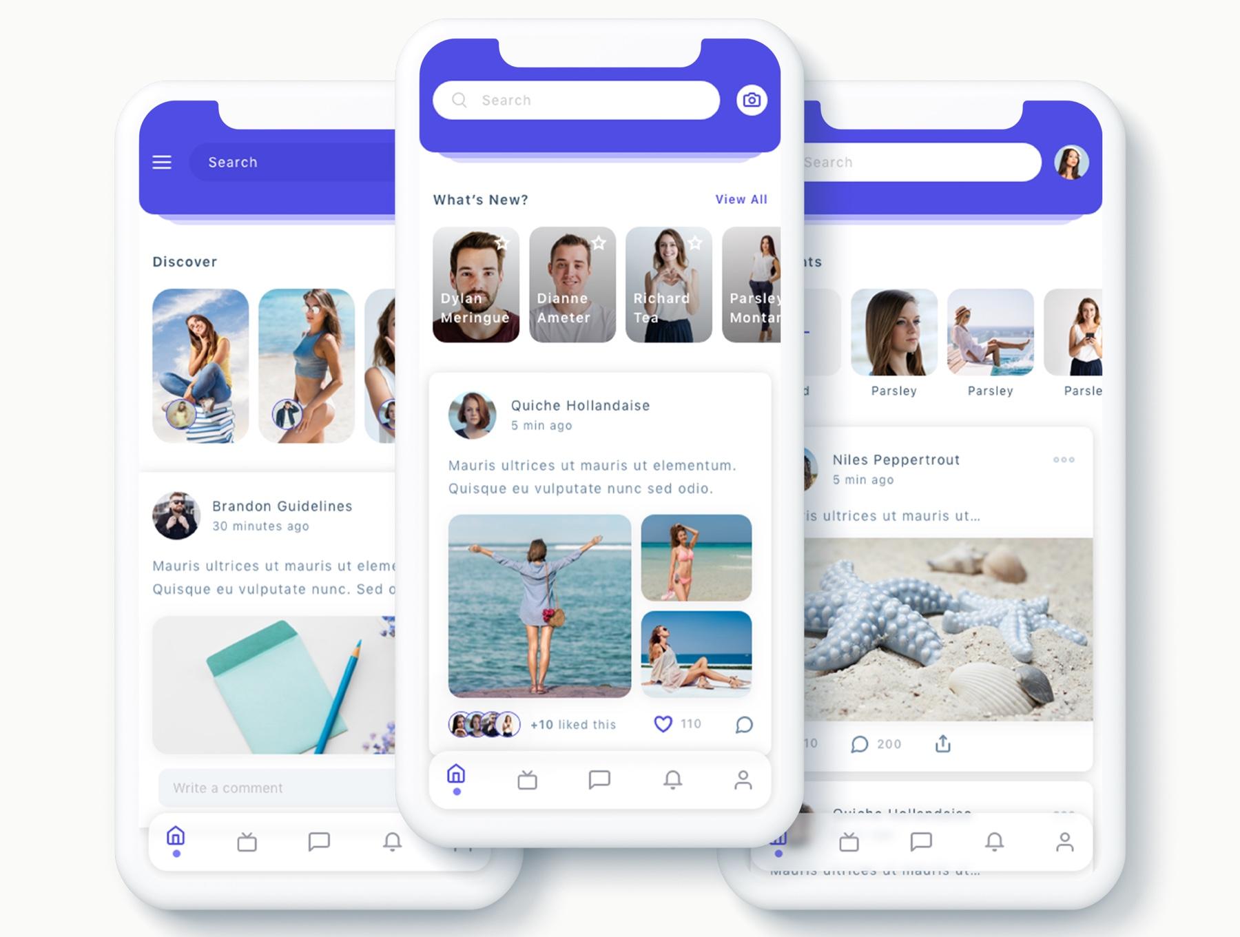 交友社交APP应用界面社交UI套件 Susen – Social Network App UI Kit插图(1)