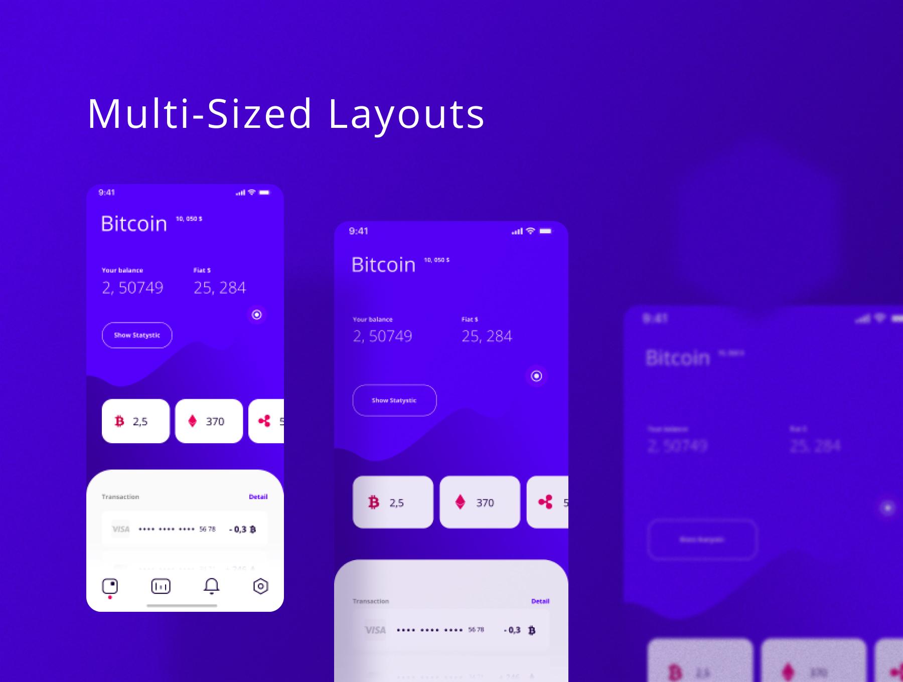 加密电子钱包主题iOS APP应用UI套件 WhaleCrypto | UI kit插图(3)