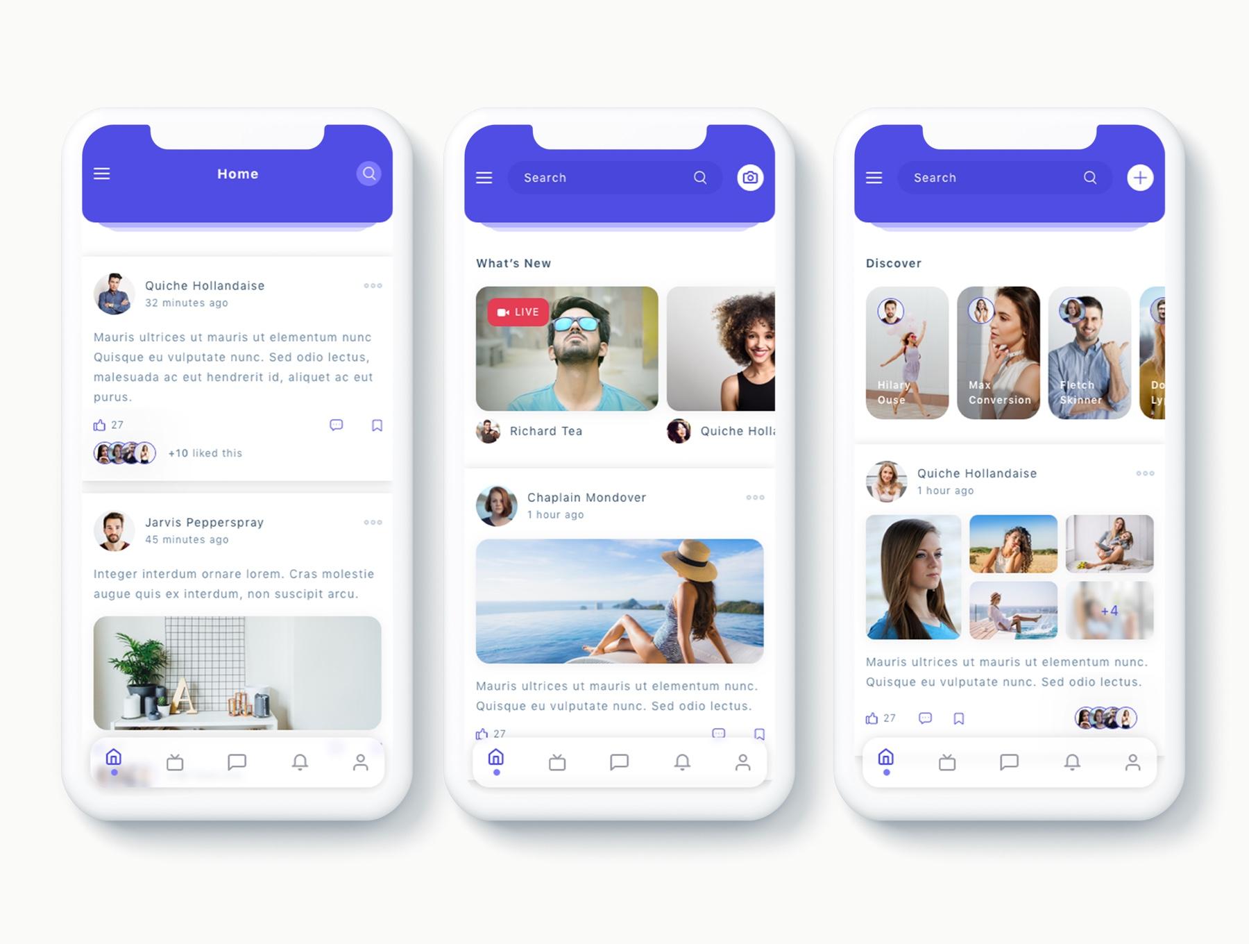 交友社交APP应用界面社交UI套件 Susen – Social Network App UI Kit插图(4)